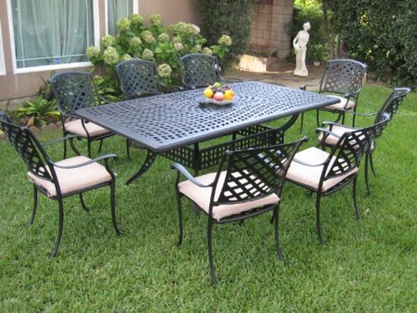 Best Cast Aluminum Outdoor Patio Dining Sets For 8 On Sale ...