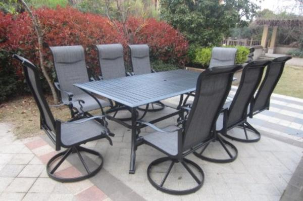 Best Cast Aluminum Outdoor Patio Dining Sets For 8 On Sale