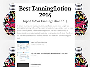 Top 10 Best Rated Indoor Tanning Lotions | Best Tanning Lotion 2014