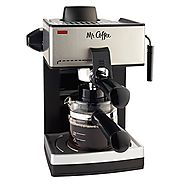 Best Espresso Maker Reviews | Mr. Coffee ECM160 4-Cup Steam Espresso Machine, Black