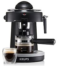 Best Espresso Maker Reviews | KRUPS XP1000 Steam Espresso Machine with Frothing Nozzle for Cappuccino, Black