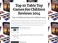 Top 10 Best Rated Table Top Games for Kids 2016-2017 | Top 10 Table Top Games for Children Reviews 2014