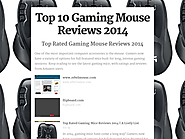 Top 10 Best Rated Gaming Mice Reviews 2016-2017 | Top 10 Gaming Mouse Reviews 2014