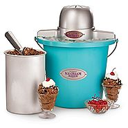 Best Top Rated Ice Cream Maker Reviews 2014 | Nostalgia Electrics ICMP400BLUE 4-Quart Electric Ice Cream Maker