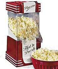 Best Rated Air Popcorn Popper | Nostalgia Retro Hot Air Popcorn Popper - RHP-625 | BrandsMart USA