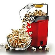 Best Rated Air Popcorn Popper | Brentwood Hot Air Popcorn Popper; Red | Staples®