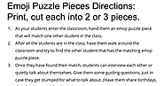 Emoji Puzzle Pieces