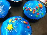 Stars in Space Cupcakes