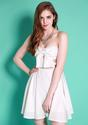 Strapless Bowknot Dress - White - Lookbook Store