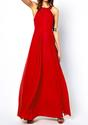 Cross Back Maxi Dress - Red - Lookbook Store