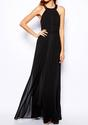 Cross Back Maxi Dress - Black - Lookbook Store