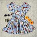 Floral Print Skater Dress - C - Lookbook Store