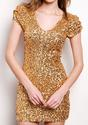 Gold Sequined Dress - Lookbook Store