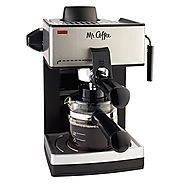 Best Coffee Latte Makers | Mr. Coffee ECM160 4-Cup Steam Espresso Machine, Black