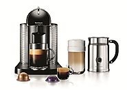 Best Coffee Latte Makers | Nespresso VertuoLine Coffee and Espresso Maker with Aeroccino Plus Milk Frother, Black
