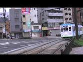 [HD] Nagasaki Electric Tramway, streetcar in Nagasaki Japan.