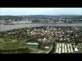 Helicopter flight over Newcastle, NSW, Australia