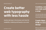 Digital tools | Design in the browser with web fonts and real content — Typecast