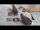 "Ray-Ban Aviator Sunglasses | Review: Ray-Ban Aviator ""Flat Metal"" Ultrathin Sunglasses Model 3513"