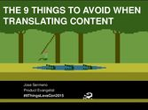 The 9 things to avoid when translating content