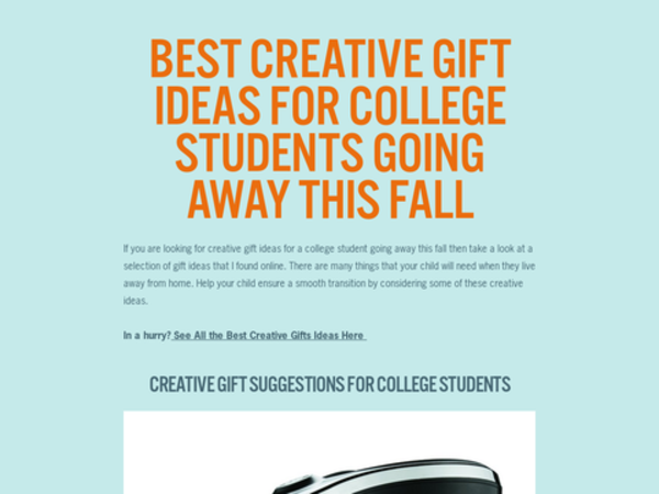 5 Best Gifts For College Students (December 2015)