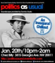 Politics as Usual: An Inaugural Chillout - Eventbrite