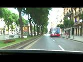 Tarragona - Driving in the city, Spain