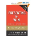 Top Storytelling Books via @YouBrandInc | Presenting to Win: The Art of Telling Your Story, Updated and Expanded Edition: Jerry Weissman
