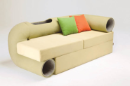 DESIGNING for Pets! | Smart Space-Saving Hybrid Furniture: Cat Tunnel Sofa