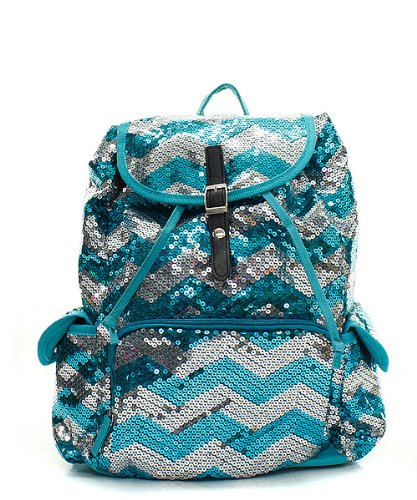 Best Glitter Sequin Chevron Backpack for Girls - Rating and Reviews