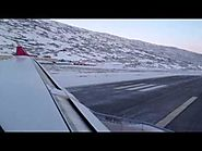 Beautiful takeoff from Kangerlussuaq with Air Greenland A330-200