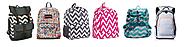 Chevron Print Backpacks for Girls | Best colors of Aqua, Pink, Purple and more | Best Chevron Backpack for School - Girls Backpacks in Pink Blue Purple Green and more