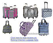 Best Chevron Luggage | Chevron Rolling Luggage, Carry On and Duffel Bags | Fun Chevron Rolling Luggage Sets - Hardcase or Soft Sided - Tackk