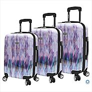 Steve Madden Purple Chevron Luggage Sets on Wheels