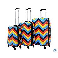 Best Chevron Luggage | Chevron Rolling Luggage, Carry On and Duffel Bags | Bright Color Chevron Luggage Sets on Wheels