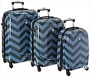 Best Chevron Luggage | Chevron Rolling Luggage, Carry On and Duffel Bags | Dejuno Chevron 3 Piece Luggage Set- Review