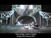 Driving Over Tower Bridge, London, England (Sunday 26th February 2012)