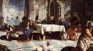 16 Great Artists of the Renaissance   jacobo robusti tintoretto christ washing the feet of his disciples1 537x300 185px