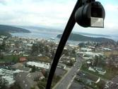 Helicopter Flight over Friday Harbor Washington, Robinson R22