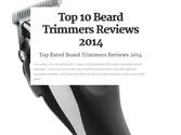 Top 10 Best Rated Beard Trimmers Reviews | Top 10 Beard Trimmers Reviews 2014