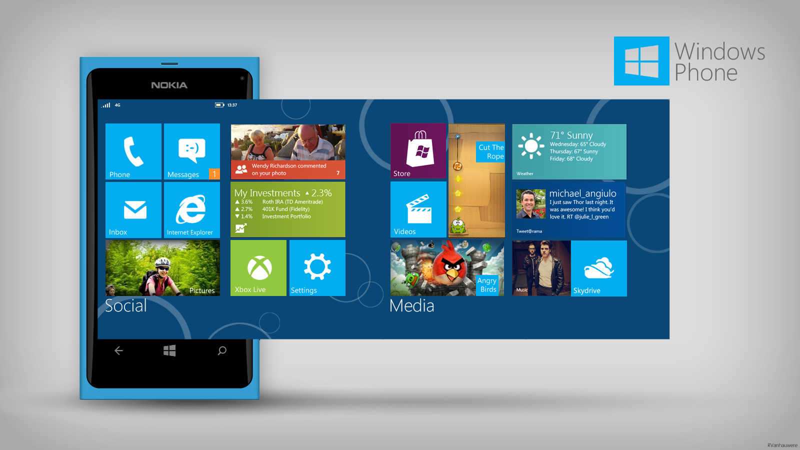 Headline for Danske Windows Mobile-apps