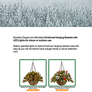 Beautiful Christmas Hanging Baskets with LED Lights