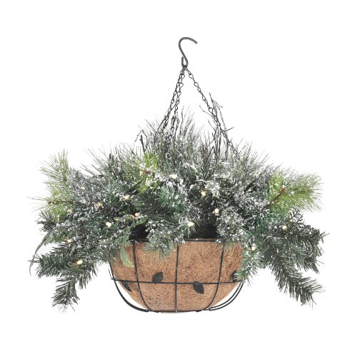 Headline for Lighted Christmas Hanging Baskets with Lights for Outdoor or Indoor Use