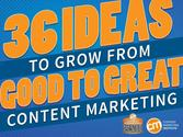 36 Ideas To Grow From Good To Great Content Marketing