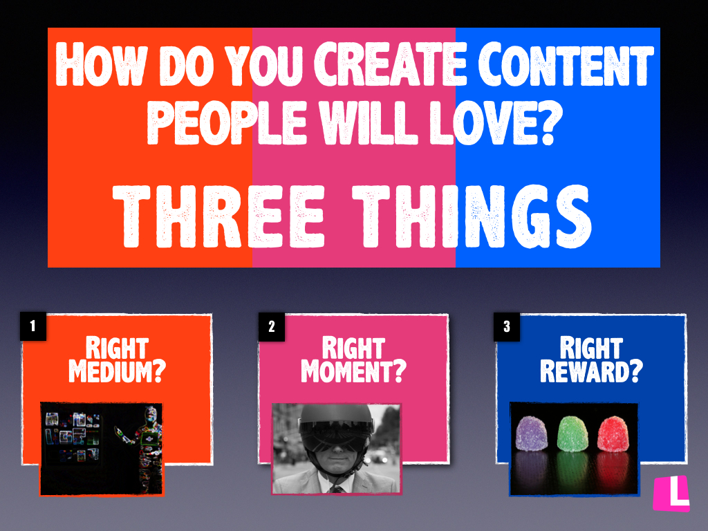 Headline for 3 Things to CREATE Content PEOPLE will LOVE?