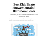 Best Kids Pirate Shower Curtain | Bathroom Decor