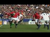 #9 Craig Quinnell Runs Over Steve Hanley (1999 Five Nations)