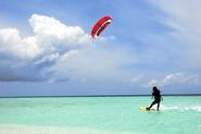 Wind Surfing and Kite Surfing in the Maldives