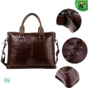 Men Brown Leather Business Bags CW901205 - m.cwmalls.com