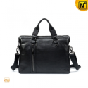 Black/Brown Leather Business Bag CW972880 - cwmalls.com